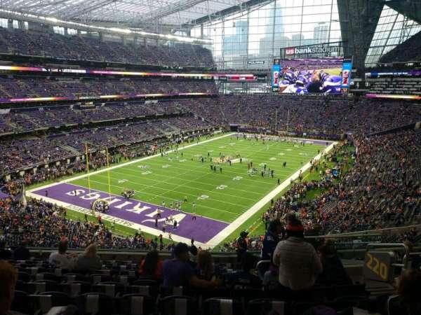 U.S. Bank Stadium, section: 220, row: 11, seat: 6