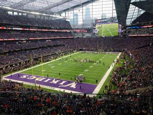 U.S. Bank Stadium, section: 221, row: 1, seat: 1