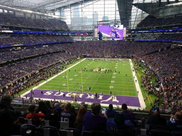 U.S. Bank Stadium, section: 222, row: 10, seat: 13