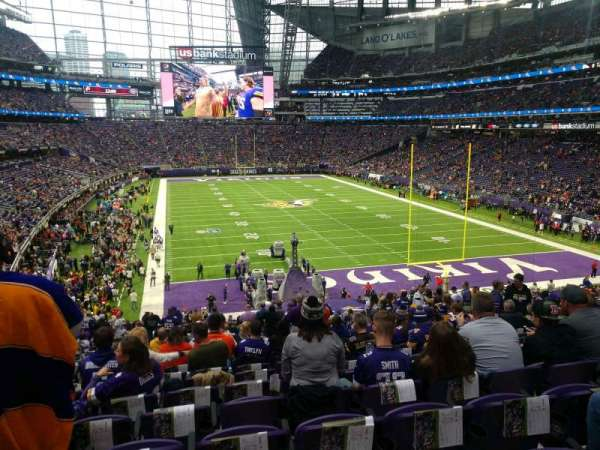 U.S. Bank Stadium, section: 121, row: 35, seat: 22