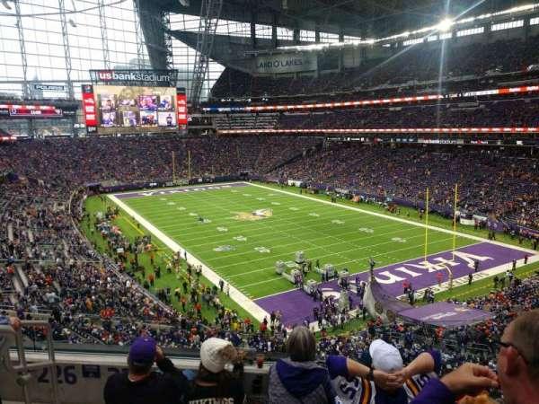 U.S. Bank Stadium, section: 225, row: 4, seat: 6