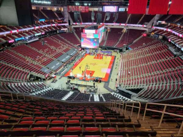 Toyota Center, section: 417, row: 15, seat: 4