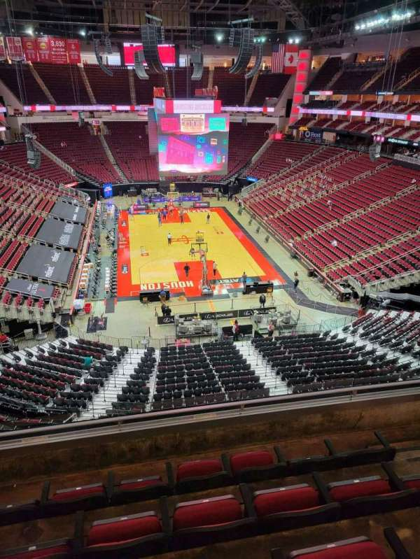 Toyota Center, section: 419, row: 5, seat: 5