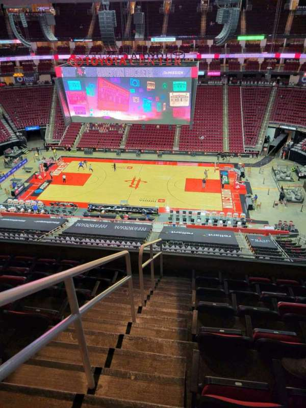 Toyota Center, section: 425, row: 7, seat: 16
