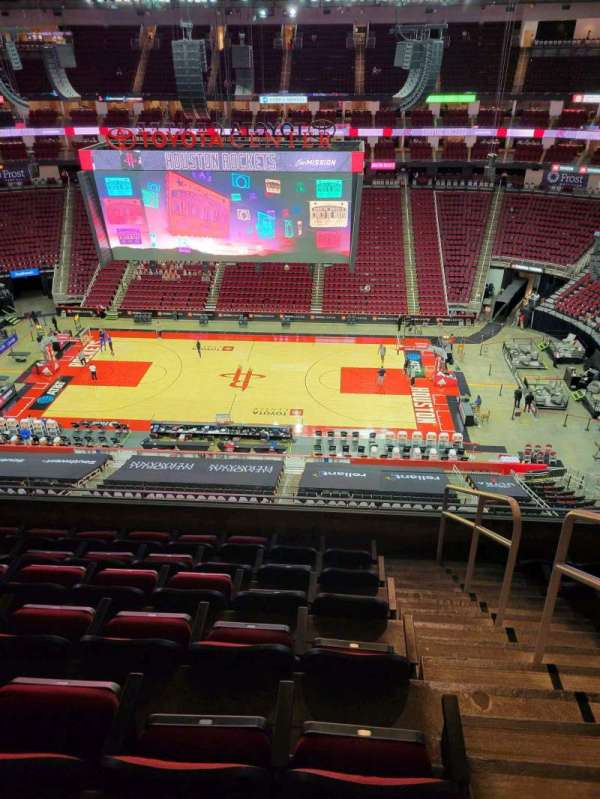 Toyota Center, section: 426, row: 7, seat: 3