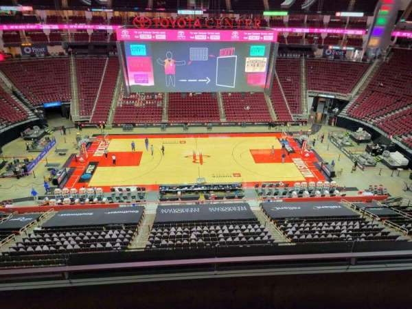 Toyota Center, section: 427, row: 3, seat: 3