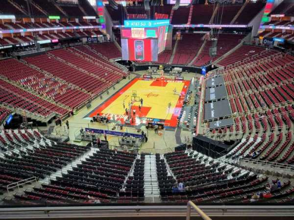 Toyota Center, section: 434, row: 4, seat: 1