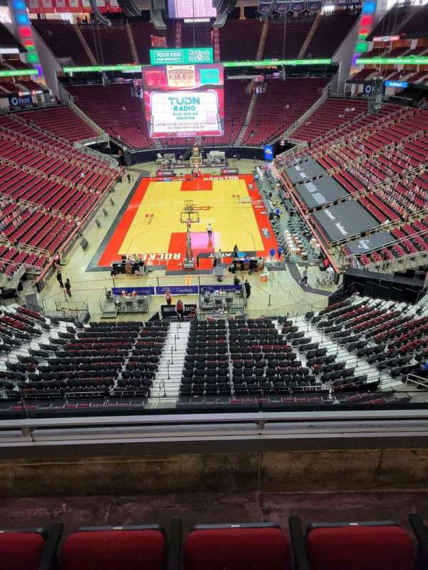 Toyota Center, section: 401, row: 3, seat: 3