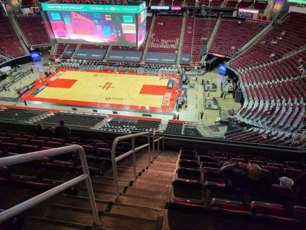 Toyota Center, section: 407, row: 9, seat: 19