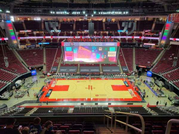Toyota Center, section: 410, row: 9, seat: 1