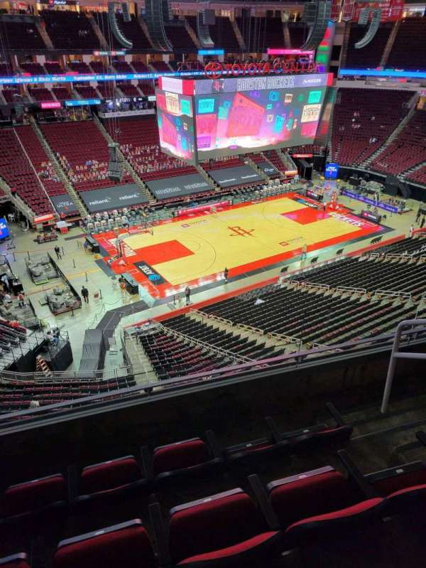 Toyota Center, section: 413, row: 4, seat: 4