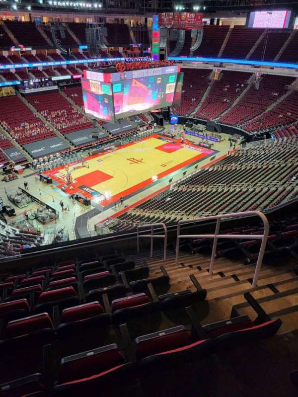 Toyota Center, section: 414, row: 9, seat: 3