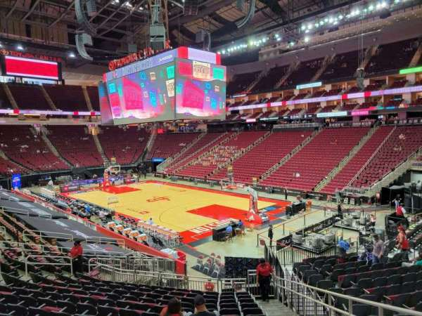 Toyota Center, section: 116, row: 22, seat: 2