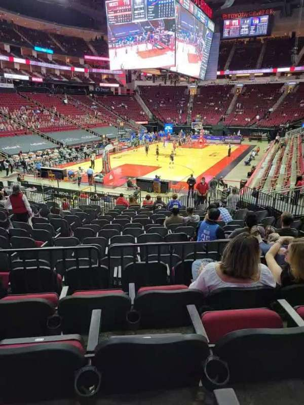 Toyota Center, section: 112, row: 19, seat: 13