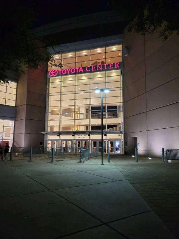 Toyota Center, section: Jackson Street Entrance
