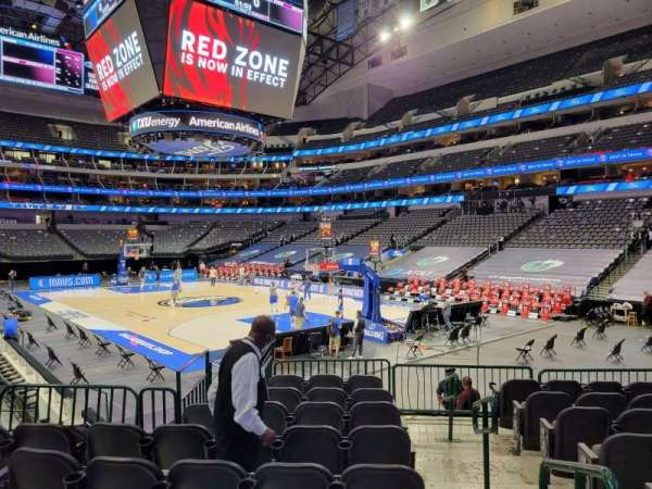American Airlines Center, section: 103, row: J, seat: 1