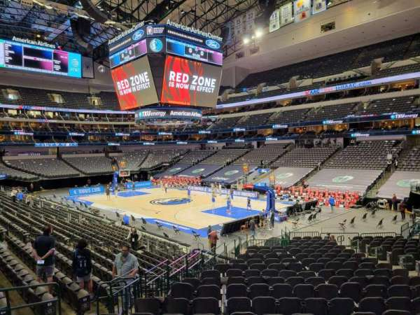 American Airlines Center, section: 103, row: V, seat: 10