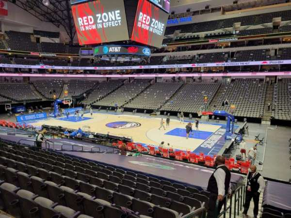 American Airlines Center, section: 116, row: V, seat: 19