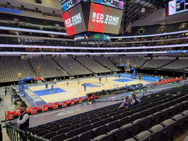 American Airlines Center, section: 121, row: V, seat: 1
