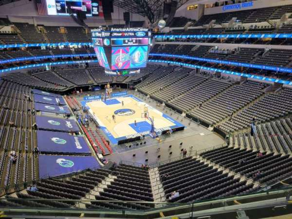 American Airlines Center, section: 320, row: B, seat: 10