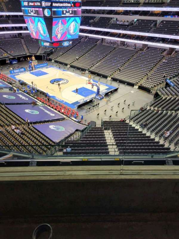 American Airlines Center, section: 322, row: B, seat: 1