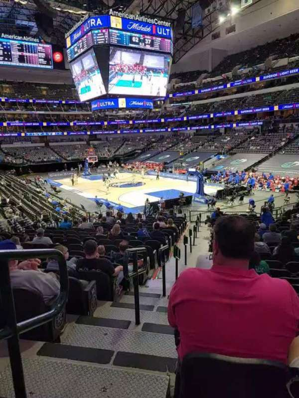 American Airlines Center, section: 102, row: w, seat: 22