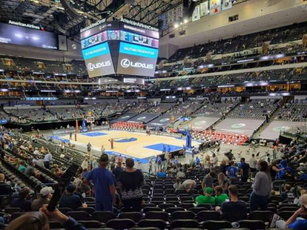 American Airlines Center, section: 102, row: wc, seat: 10