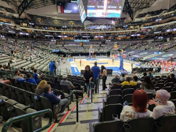 American Airlines Center, section: 101, row: M, seat: 19