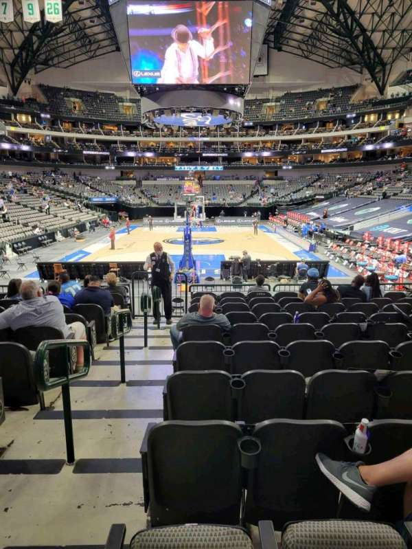 American Airlines Center, section: 124, row: L, seat: 1
