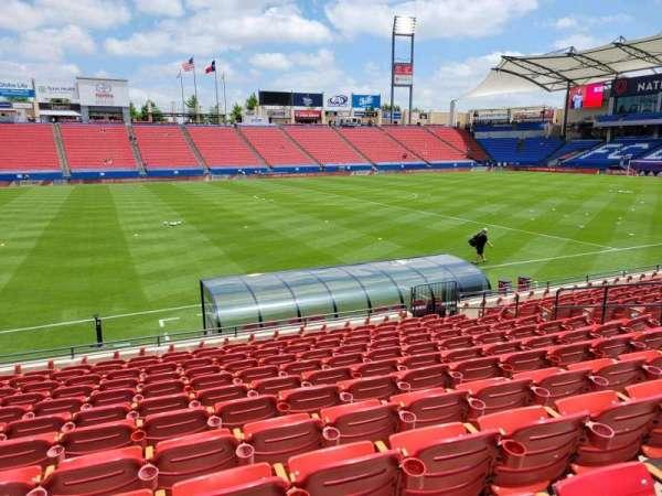 Toyota Stadium, section: 104, row: 12, seat: 10