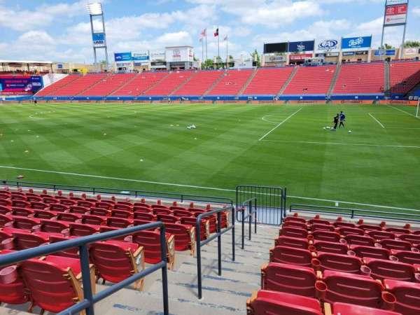 Toyota Stadium, section: 110, row: 10, seat: 1