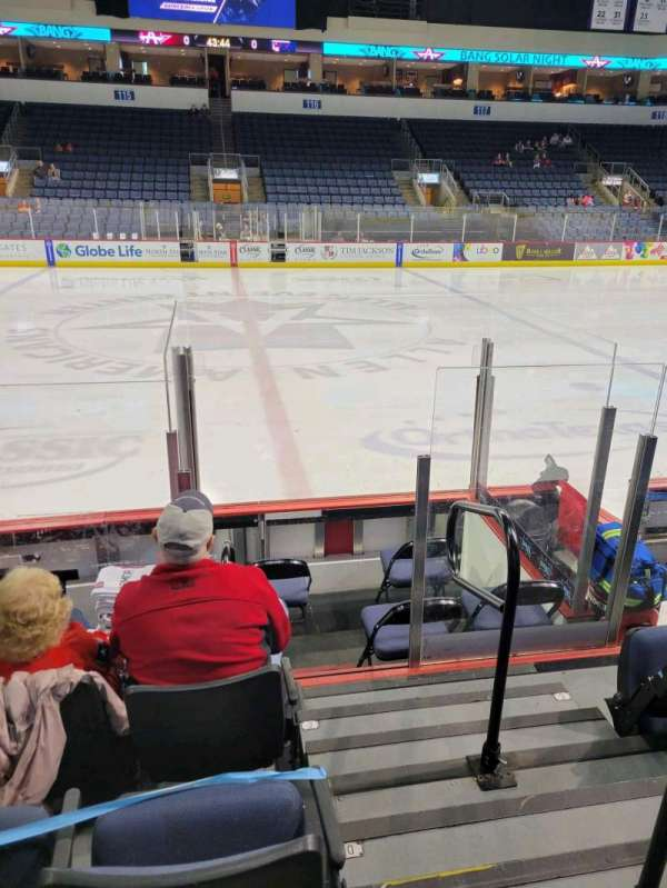 Allen Event Center, section: 105, row: E, seat: 1