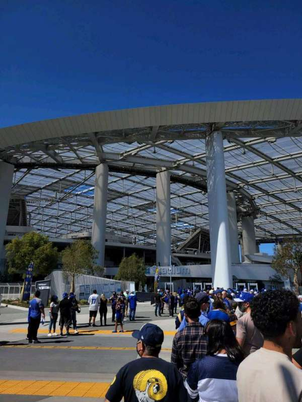 SoFi Stadium, section: entry 8