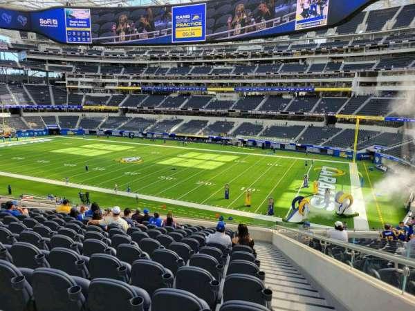 SoFi Stadium, section: C250, row: 14, seat: 1