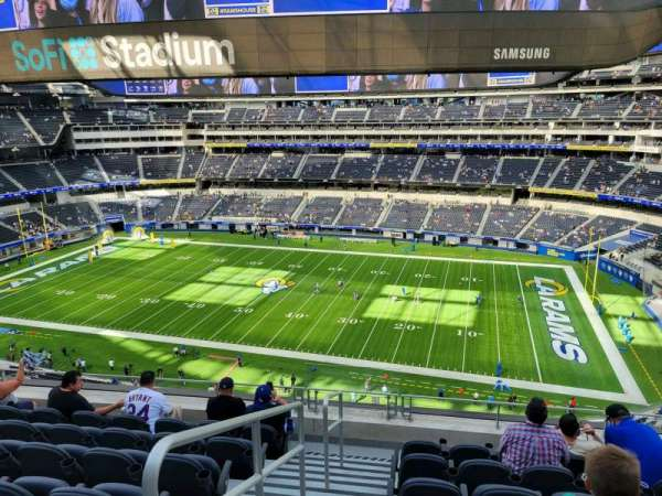 SoFi Stadium, section: 326, row: 7, seat: 12