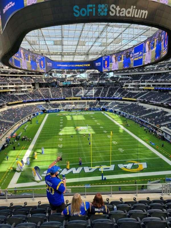 SoFi Stadium, section: 308, row: 8, seat: 8