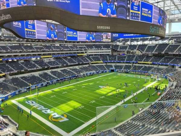 SoFi Stadium, section: 341, row: 2, seat: 1