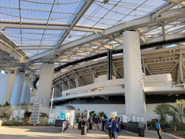 SoFi Stadium, section: entry 12