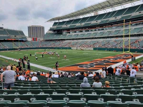 Paul Brown Stadium, section: 101, row: 18, seat: 10