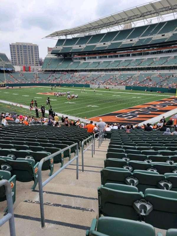 Paul Brown Stadium, section: 101, row: 26, seat: 22