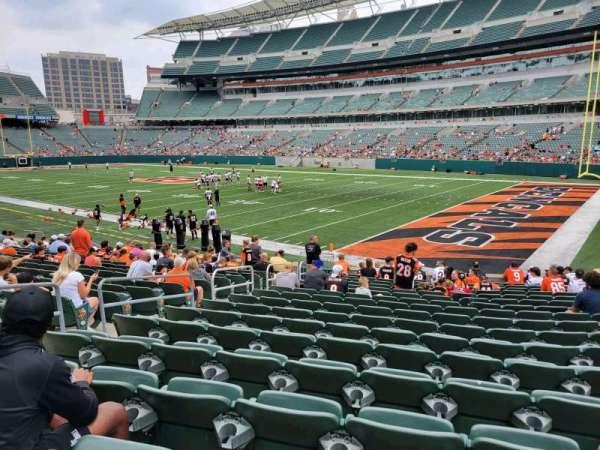 Paul Brown Stadium, section: 102, row: 17, seat: 2