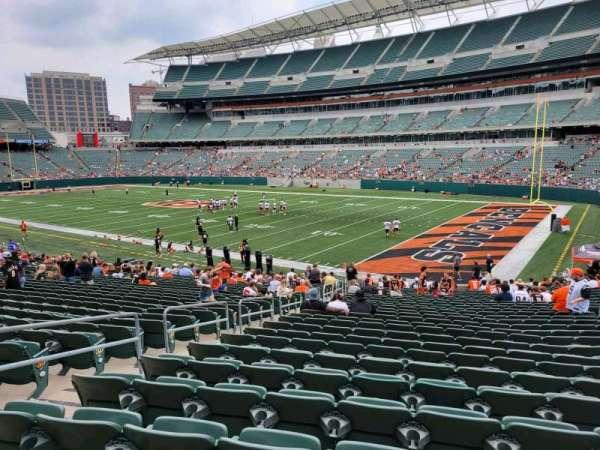 Paul Brown Stadium, section: 102, row: 27, seat: 15