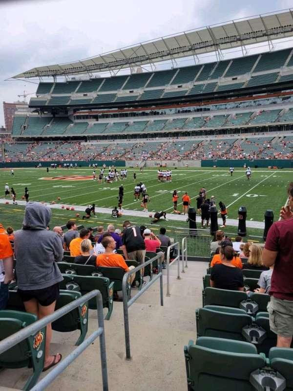 Paul Brown Stadium, section: 104, row: 12, seat: 22