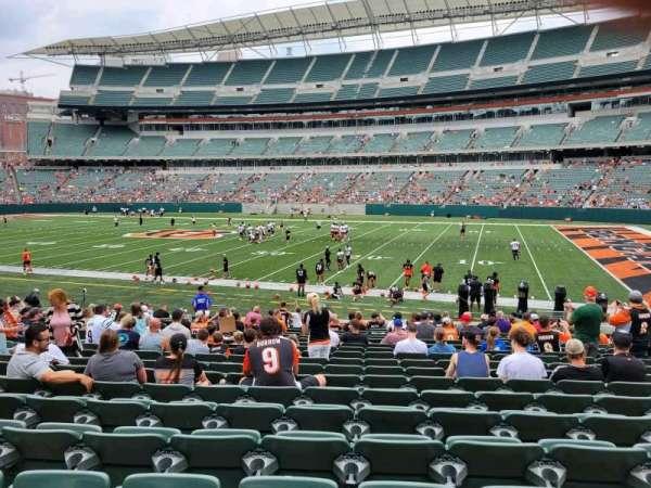 Paul Brown Stadium, section: 106, row: 19, seat: 10