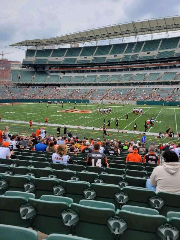 Paul Brown Stadium, section: 106, row: 21, seat: 2