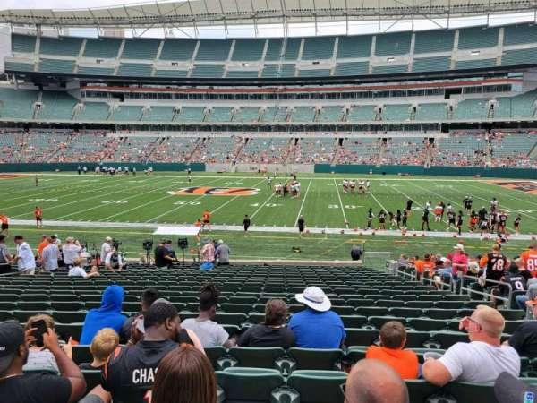 Paul Brown Stadium, section: 109, row: 21, seat: 7