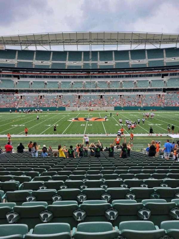 Paul Brown Stadium, section: 110, row: 22, seat: 10