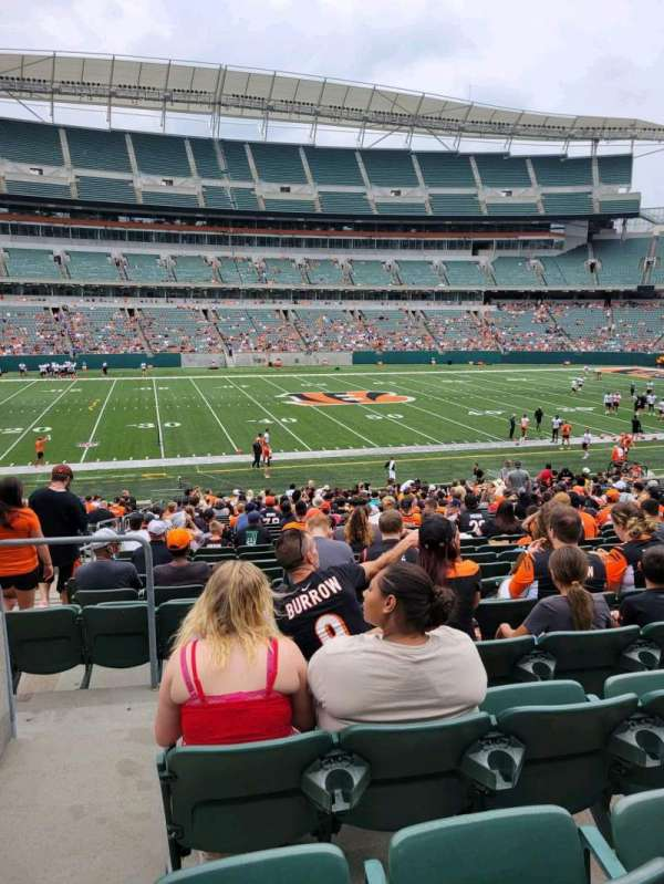 Paul Brown Stadium, section: 111, row: 28, seat: 20