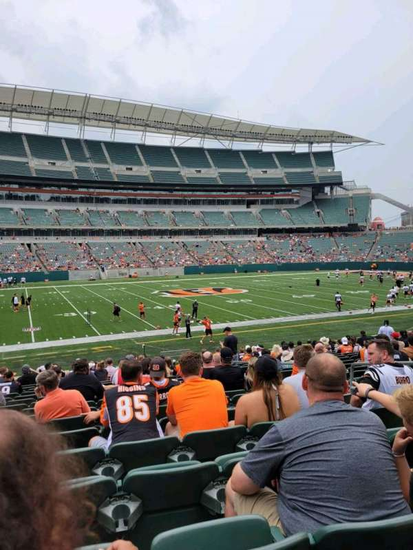 Paul Brown Stadium, section: 112, row: 18, seat: 6
