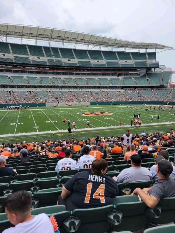 Paul Brown Stadium, section: 112, row: 27, seat: 7